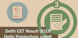 Delhi CET Result 2019