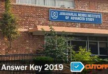 jnu answer key 2019
