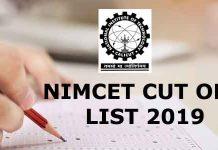 nimet cutoffl list 2019