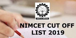 nimet cutoffl list 2019