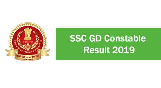 SSC gd constable result 2019