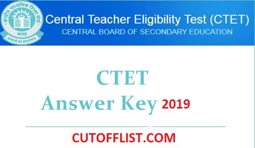 CTET Answer Key 2019
