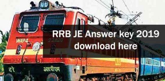 RRB JE Answer Key download