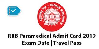 RRB Paramedical Admit Card