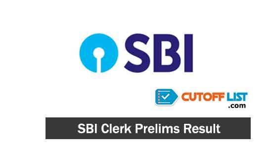 SBI Clerk Prelims Result