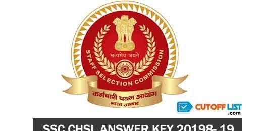 SSC CHSL Answer key 2018