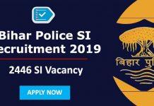 Bihar Police Daroga Recruitment 2019