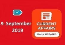 19 September Cuurent Affairs