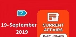 19 September Cuurent Affairs