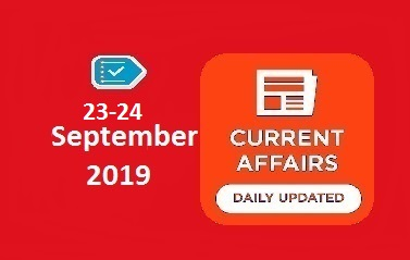 23-24 September Current Affairs