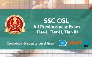 SSC CGL Cut Off List Previous year