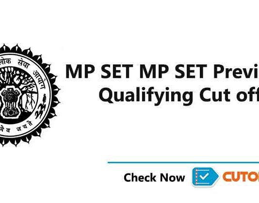 MP SET Cut off 2019