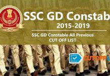 SSC GD Constable Cutoff List