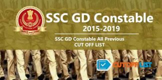 SSC GD Constable Cutoff List