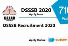 dsssb recruitment 2020 apply online