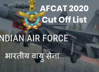 AFCAT 2020 Cut Off