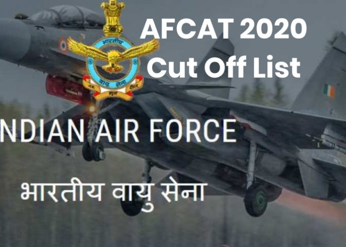AFCAT 2020 Cut Off