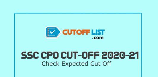 SSC CPO Cut Off List